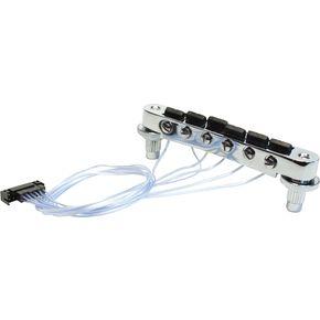 PN-8843-C0 - Ponte fisso tipo T-O-M con selle PIEZO per chitarra elettrica - Cromato