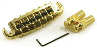 PS-8593-G0 - Ponte fisso Wrap Around per chitarra elettrica - Dorato